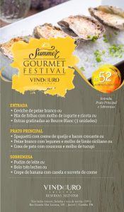 Summer Festival Gourmet - Restaurante Vindouro