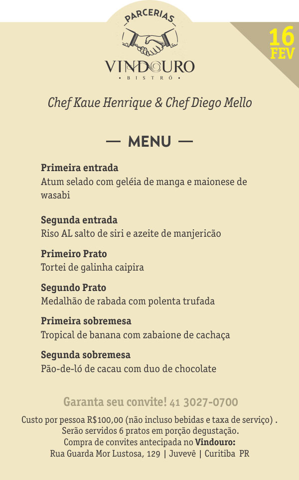 Vindouro Restaurante Curitiba