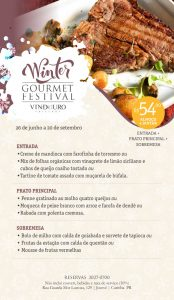 Winter Gourmet Festival - Vindouro Restaurante