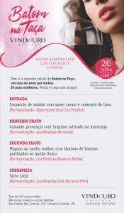 Batom na Taça - jantar com harmonização só para mulheres no Vindouro