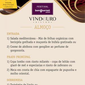 Festival Bom Gourmet - Vindouro Restaurante Curitiba