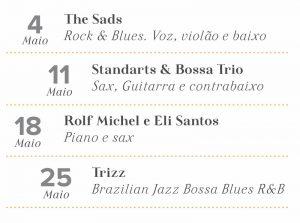 Programação Musical - Restaurante Vindouro Curitiba