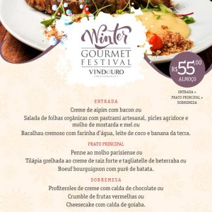 Winter Gourmet Festival - Almoço Executivo Restaurante Vindouro