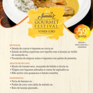 Summer Gourmet Festival - Almoço executivo Restaurante Vindouro