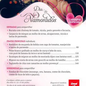 Jantar do Dia dos Namorados - Restaurante Vindouro Curitiba
